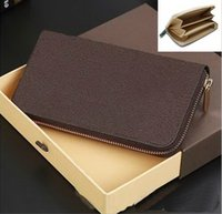 Wholesale Hot Sell and retail new PU Leather mens and womens Double zipper wallets purse card Holders color for pick