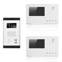 apartment doorbells - wired video door phone inch buttons small screens for infrared night vision apartment doorbell