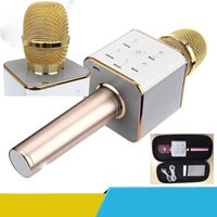 Wholesale For Iphone Q7 PK K068 K088 Handheld Microphone Bluetooth Wireless KTV With Speaker Mic Microfono Handheld For Smartphone Karaoke DHL OTH329