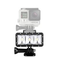 Wholesale Led For Gopro - Waterproof High Power Dimmable LED Video POV Flash Fill Light Night Light for GoPro Hero 4 3+ 3 for xiaomi Yi Action Camera DHL FREE