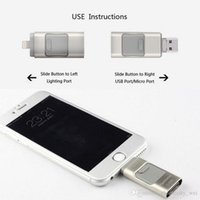apple drive usb - NEW3 IN i Flash Drive USB GB USB U Disk pin Memory Stick For iPhone S C plus plus