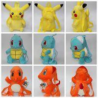 Backpack Style Unisex Cartoon Poke Plush Doll Bag Pikachu Backpacks Poke Plush Backpack Pocket Monster School Bags 35-40CM kids School Bags Pouch Backpack KKA987