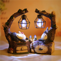 Wholesale Hayao miyazaki totoro lying posture stay a night light Forest series lamp Creative resin gifts furnishing articles