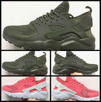 2017 Aire Huarache IV Zapatillas de running para hombres Mujer, Zapatillas de deporte rosadas verdes Triple Huaraches Zapatillas deportivas para hombre Zapatillas de deporte para mujer Zapatos deportivos