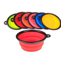 Wholesale Hot Sale Pet Products silicone Bowl pet folding portable Dog Bowls for food the dog drinking water bowl pet bowls