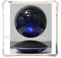 Wholesale 1pcs dhl free new led magnetic floating bottom sky star starry globe with induction for gift