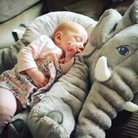 Wholesale 6 Colors CM Cute Plush Soft Toy Stuffed Toy Elephant Pillow PP Cotton Stuffed Baby Cushions Super Soft Elephants Toys Baby Calm Doll Toy