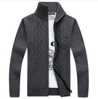 american style knitting - Men s Winter Sweaters Fashion Cardigan Sweaters Coats Large Size Mens Knitted Sweaters Solid Knitwear Cardigan Large Size XXXL