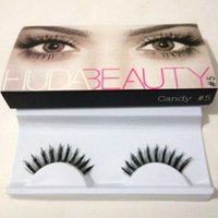 Wholesale HB False Eye Messy Cross Thick Natural Fake Eye Lashes Huda Beauty Eye Lashes Handmade DHL pair