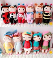 Wholesale Kawaii metoo angela dolls cute bunny rabbit plush toys for girl birthday gift children soft stuffed animal toys baby kids comforting doll