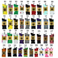 Wholesale 38 Colors Ship Dhl Fedex Sports Socks Euro And Form En High Quality Cotton Socks Ma Leaf Thread In The High Tube Towel Socks