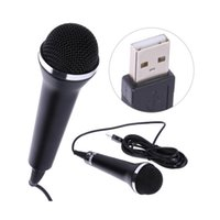 Xbox mic pc Prix-Universal Karaoke Mic pour PS4 PS3 XBOX One 360 ​​Wii U Jeux PC Microphone USB pour jeux vidéo Wii USB Microphone Handheld Wired