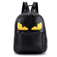 Wholesale Backpack Everyday Pack School Nylon and PU Leather Monster Angry Eyes Campus Bag