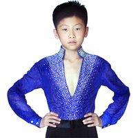Wholesale Hot Sale Latin Dance Competition Costumes Kids Boys Latin Ballroom Dance Dress Suit Performance Clothing UD0032