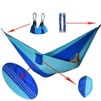Wholesale Outdoor Hanging Sleeping Bed Parachute Nylon Fabric Outdoor Camping Hammocks Double Person Portable Hammock Swing Bed