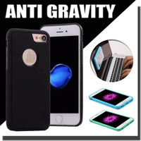 Metal apple nano cases - Anti Gravity Selfie Hybrid TPU PC Plastic Magical Nano Sticky Wall Back Case For iPhone Plus S S Galaxy Note S6 S7 Edge MOQ