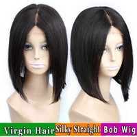 Wholesale Front Lace Human Hair Wigs For Black Women Brazilian Short Straight Wig Natural Short Bob Glueless Lace Front Human Hair Wigs