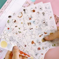 Wholesale sheets set Korea Molang Stupid Meng Super Cute Rabbit Q Pet Decorative Planner Stickers Diary Sticky Notes
