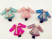 baby hanbok - Top Quality Fashion Cute Cartoon Solid Hanbok Dress BB Girls HairClip Baby Gilrs Hair Accessories Cartoon Fabric Girls Hairpins