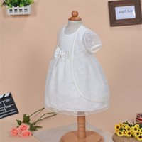 baptism cape - 2Pcs Set Newborn Baby Christening Dress Lace flower Infant Girl White Princess Lace Baptism Dress Toddler Chiffon Gown for M with cape