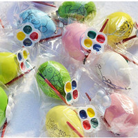 Wholesale Easter Egg DIY for Kids Drawing Painting with Brush Palette Children Gifts Education Toys Hot Sale New
