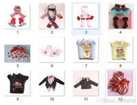 Wholesale New Arrived Christmas Shelf Doll Apparel Set Boots Tartan Skirt Boots Satin Tiered Skirt Elf Clothes Dress Doll Accessories styles
