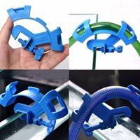 Wholesale Blue Fish Aquarium Filtration Water Pipe Filter Hose Holder For Mount Tube Tank Accessories