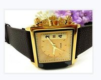 act glass - Fashion brand watch men and women leisure square dial belt deserve to act the role of quartz watches holiday gifts