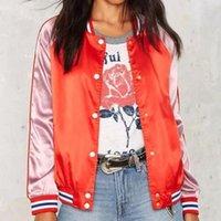 active fresh - Fresh new hot selling European style single breasted bomber jacket long sleeve O shape neck fashionable women s sweatshirts