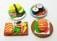Wholesale kids Set collectible kitchen food Japan Sushi Figures Dollhouse Miniature Mini Simulation model hamburger figurine doll Toys Gift decor