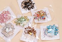 Wholesale 10pcs Mix Style Fashion Crystal Jewelry Brooches Pins For Jewelry Craft Gift BR05