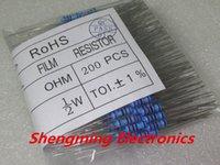 Venta al por mayor 200PCS 1 / 2W 220 ohm +/- 1% resistor 1 / 2w 220R Resistores de película de metal / 0.5W resistencia del anillo de color