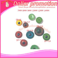 Wholesale 2017 pieces color size and DIY humanoid doll toy accessories flat bottomed simulation crystal eyes mm mm