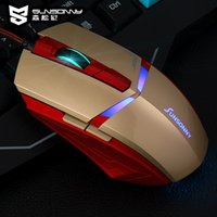 Wholesale Iron Man Sunsonny TM D LED Light Mouse Wired Gaming Optical Mouse with Adjustable DPI levels Mouse Direct factory supplies