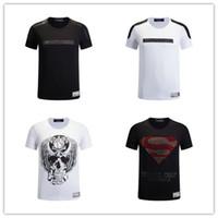 Wholesale 2017 new brand Skull t shirt men d printing hip hop t shirt Summer Business Men s t shirts fashion PP Short Sleeve top tees