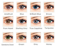 Wholesale Soft Colorful Cosmetic contact lenses for eyes colors in stock yearly use contacts eye color Freeshipping