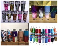 Wholesale Camo OZ YETI coolers stainless steel camouflage yeti tumblers bilayer vacuum camo yeti cups COLORS