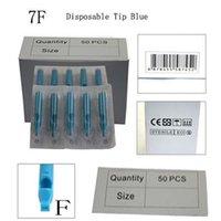 Wholesale Disposable Sterilized Blue Tattoo Tips MM FT Plastic Tattoo Needle Tube For Tattoo Machine