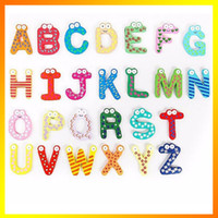 Wholesale 260pcs Letters Fridge Early Learning Set Refrigerator Toy Teaching Alphabets Fridge Magnet Magnetic Wall Letters Stickers