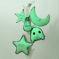 achat en gros de lumière étoiles de lune en forme-Luminous Pusheen peluche jouet lumineux jusqu'à jouets Star Moon forme enfants jouets de Noël pour les enfants Peluches animaux en peluche cadeau d'anniversaire