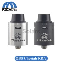 big cheetah - Original OBS Cheetah RDA Tank mm Diameter Rebuidable Dripping Atomizer Thread with Velocity Deck Big Delrin Drip Tip