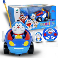 Wholesale Cartoon Doraemon remote control car boy and girl remote control car for children gifts toy car baby Favorite car