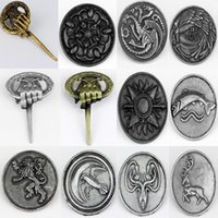 animals top songs - Top Grade jewelry Game Of Thrones Pin Brooch Song of Ice and Fire Vintage Jewelry lapel pin badge brooches for men women