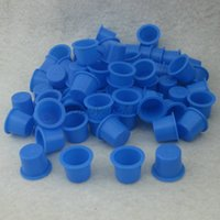 Wholesale Large Size mm Blue Plastic Tattoo Ink Cap Cups Supply BIC15
