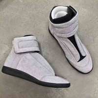 Wholesale Luxurious MMM Casual Maison Martin Margiela Sliver Black Glitter Sneaker Shoes Leisure MMM Future Kanye West Winter Flats Shoes