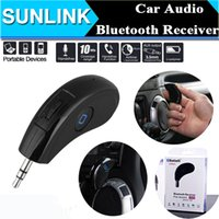 Wholesale Car Hands Free Audio Music Player Phone Call Bluetooth Receiver Wireless Control mm Stereo Car Speaker Adapter