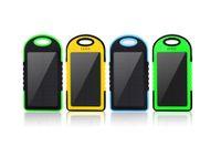 оптовых солнечная панель питания-Универсальный 5000mAh Солнечное зарядное устройство Водонепроницаемый панели солнечных батарей Зарядные устройства для смарт-телефона iphone7 таблетки камеры мобильного банка мощность Dual USB