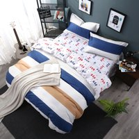 Wholesale hometextile bed sheet four pieces bedding set queen size cotton fabric with reactive printing good fastness year new designs