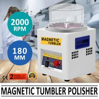 Wholesale MAGNETIC TUMBLER JEWELRY POLISHER MACHINE FINISHER MM KT185 TIME CONTROL