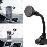 Wholesale Long Arm Car Suction Cup Magnetic Windshield Dashboard Mount Holder For iPhone Plus s Plus s Degree Rotatable Display